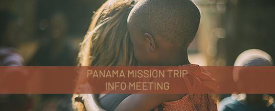 Panama Mission Trip Informational Meeting