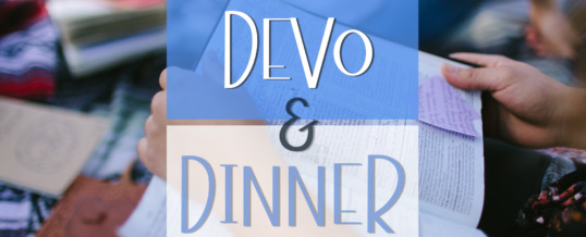 CovStudents – Devo & Dinner